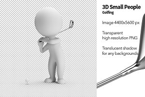 3D Small People - Golfing