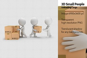 3D Small People - Unloading Cargo