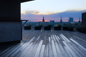 Terrace on the roof in Riga