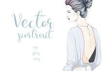 Fashion portrait in pastel colors