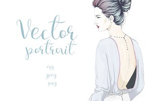 Fashion portrait in pastel colors