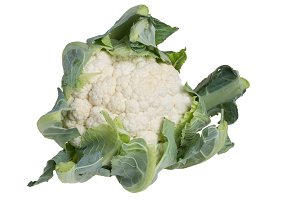 Head of cauliflower isolated