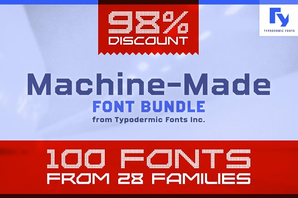 Machine-Made Font Bundle