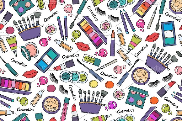 Pattern On The Theme Of Cosmetics