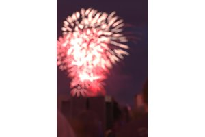 fireworks bokeh blurred festive texture background. celebration eve