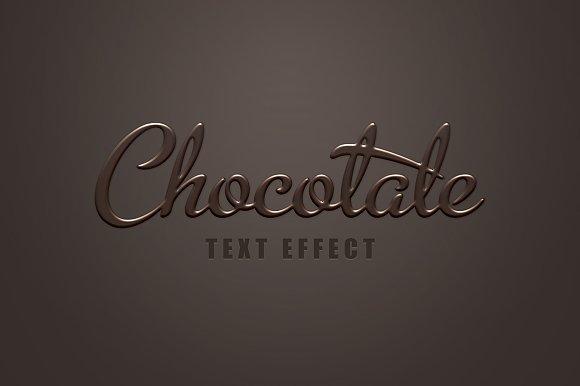 Dark Chocolate Text Effect