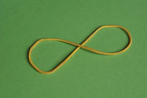 rubber band infinity sign