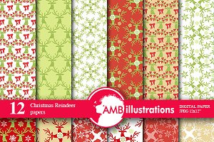 Christmas Reindeer Papers AMB-172