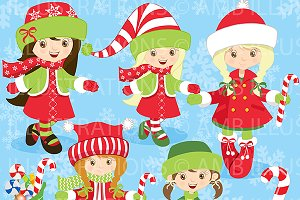 Christmas Girls Clipart AMB-189