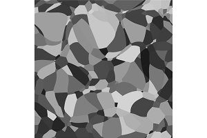 Abstract vector space monochrome background. Chaotically fluid connected points and polygons debris flying in space. Futuristic technology style. Elegant background for business presentations.