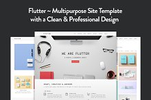 Flutter - Creative HTML5 Template by elemis in HTML/CSS