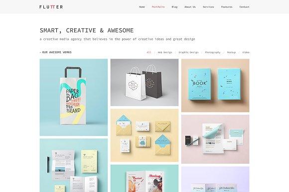 Flutter - Creative HTML5 Template
