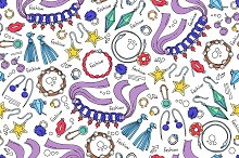 Pattern on the theme of jewelry