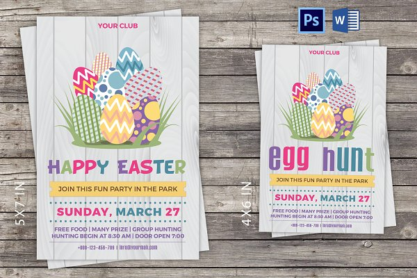 Easter Party Invitation Flyer