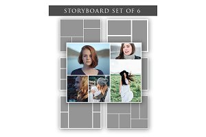Storyboards - Set of 6 Templates