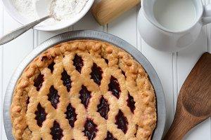 Fruit Pie Closeup