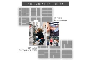 Storyboard Templates - Set of 12
