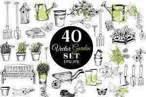 Vector garden set