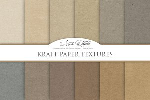 Kraft Paper Background Textures