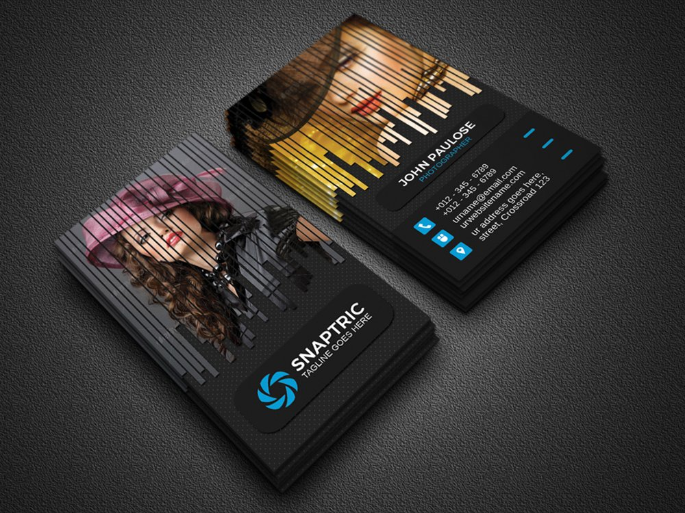 Photography business card business card templates for Best business cards for photographers