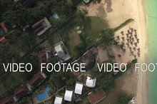 Flying over residential area Mauritius Island