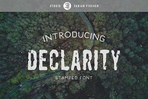 Declarity - Handstamped Font