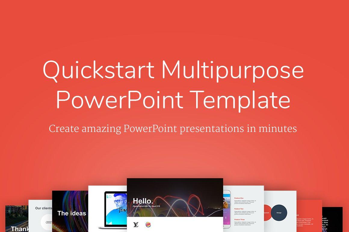 Quickstart powerpoint template presentation templates creative quickstart powerpoint template presentation templates creative market alramifo Gallery