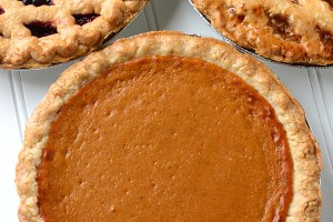 Three Pies Closeup