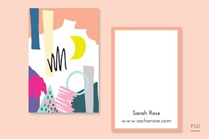 Abstract Moon Business Card Template