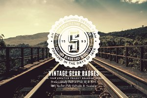 Vintage Gear Badges