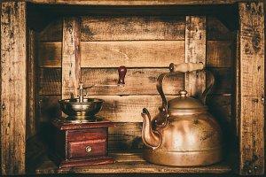 Kettle teapot retro vintage old