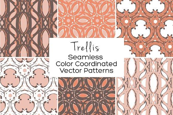 Trellis Seamless Vector Patterns