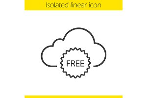 Cloud storage free space. Vector