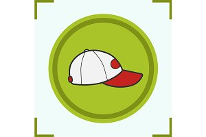 Baseball cap icon. Vector