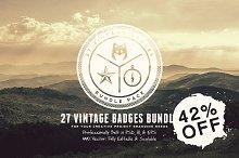 27 Vintage Badges Bundle