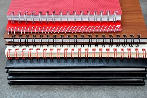 Piled elegant notebooks