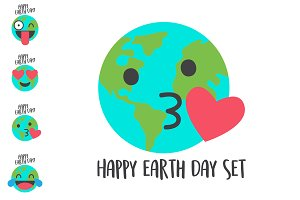 Happy Earth Day vector set