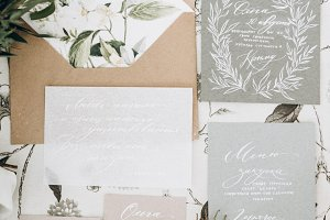 Wedding invitations and envelope