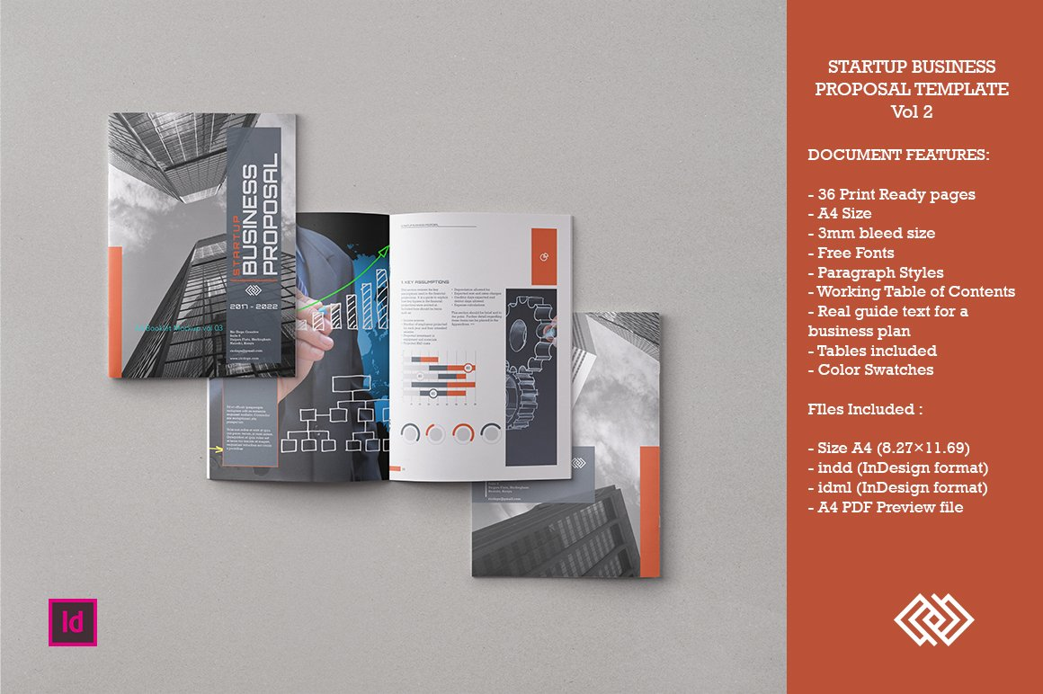 startup business proposal vol 2 brochure templates creative market