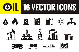 Oil - 16 Vector Icons