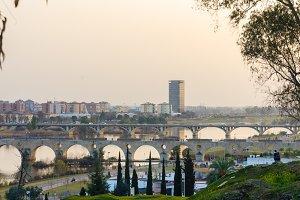 View of Badajoz city,