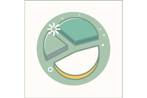 Charts Icon isolated flat vecot illustration