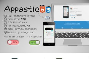 Appastic – Landing Page for Apps