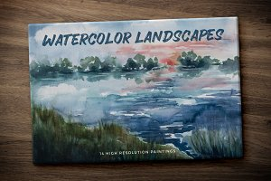 Hand Painted Watercolor Landscapes 1