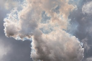 Smoke from coal powered power station