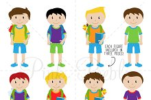 Male Student Clipart and Vectors