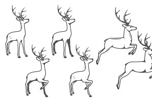 -50% OFF! Christmas reindeers