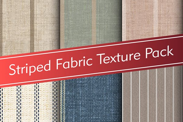 3D Man-Made - Striped Fabric Texture Pack