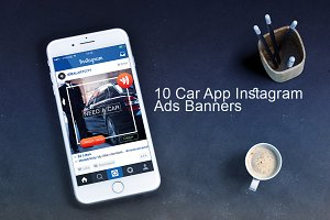 10 Car App Instagram Ads Banners