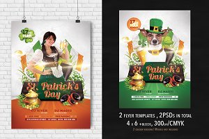 2 St. Patrick's Day Flyer 4x6
